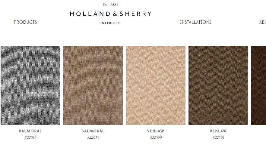Homepage Dekostoffe von Holland and Sheery