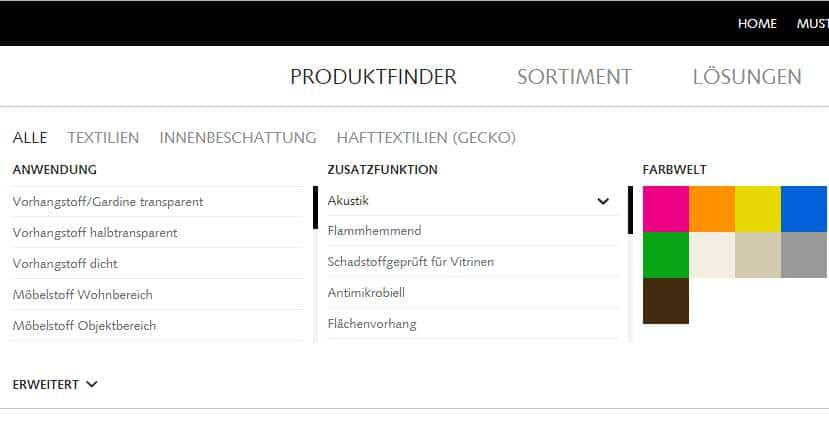 Homepage Dekostoffe kaufen von Creation Baumann