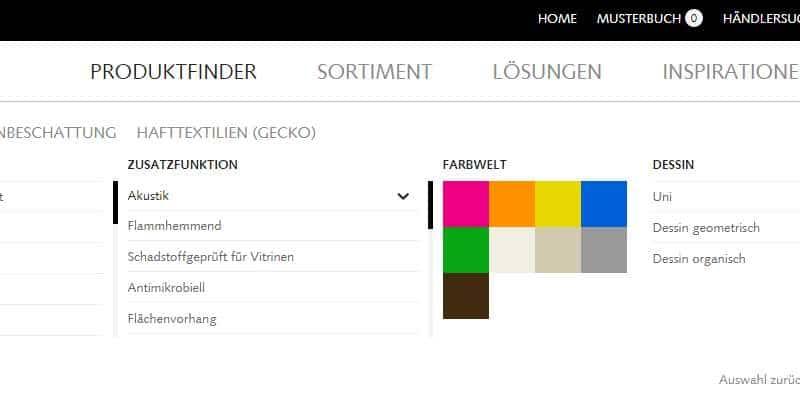 Homepage Dekostoffe von Creation Baumann