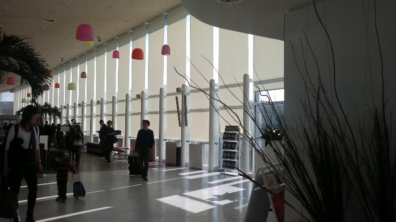 Flächenvorhänge am Flughafen Orly