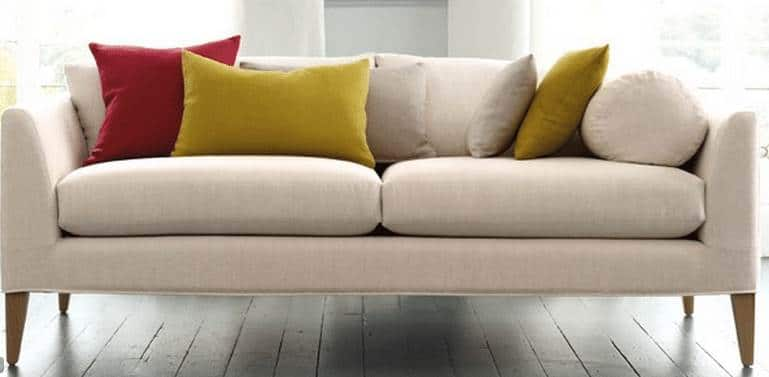 Sofa mit Leinenstoff Villanova Ghent