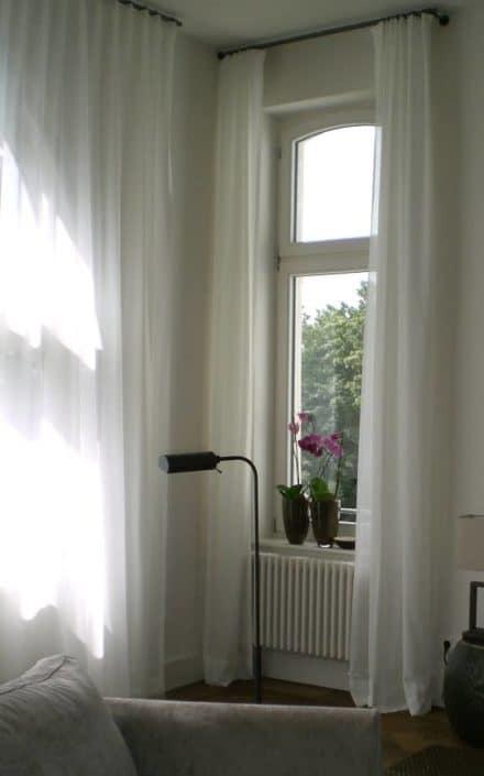 Wohnzimmer Vorhang