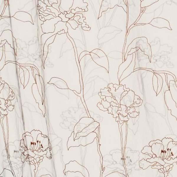 Gardinenstoffe Blumenmuster Creation Baumann