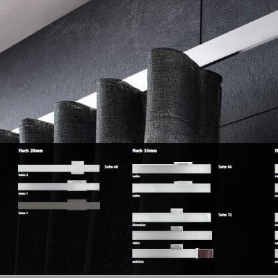 Vorhänge-Interstil Innlaufprofil Flach
