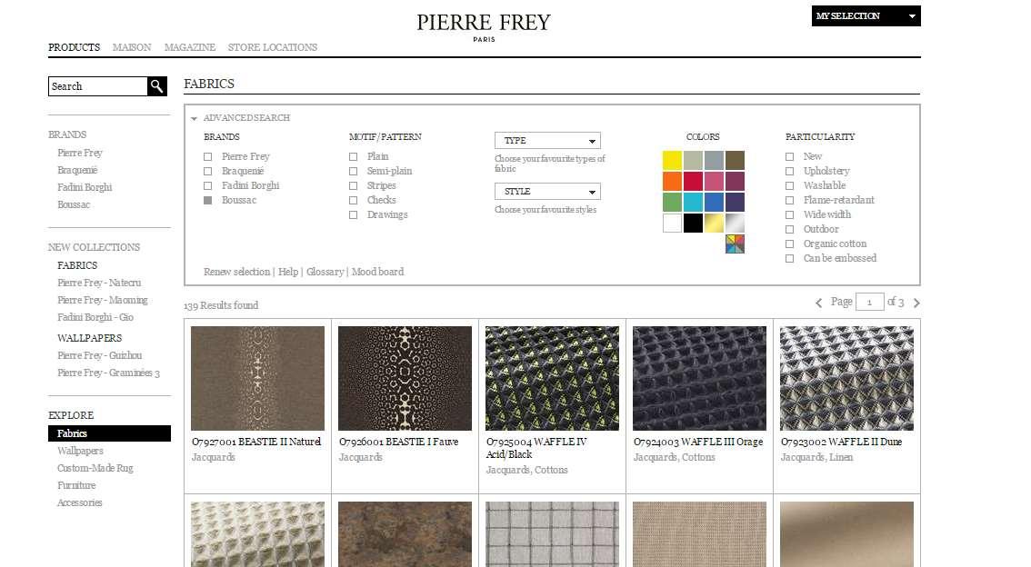 Homepage Dekostoffe kaufen von Boussac