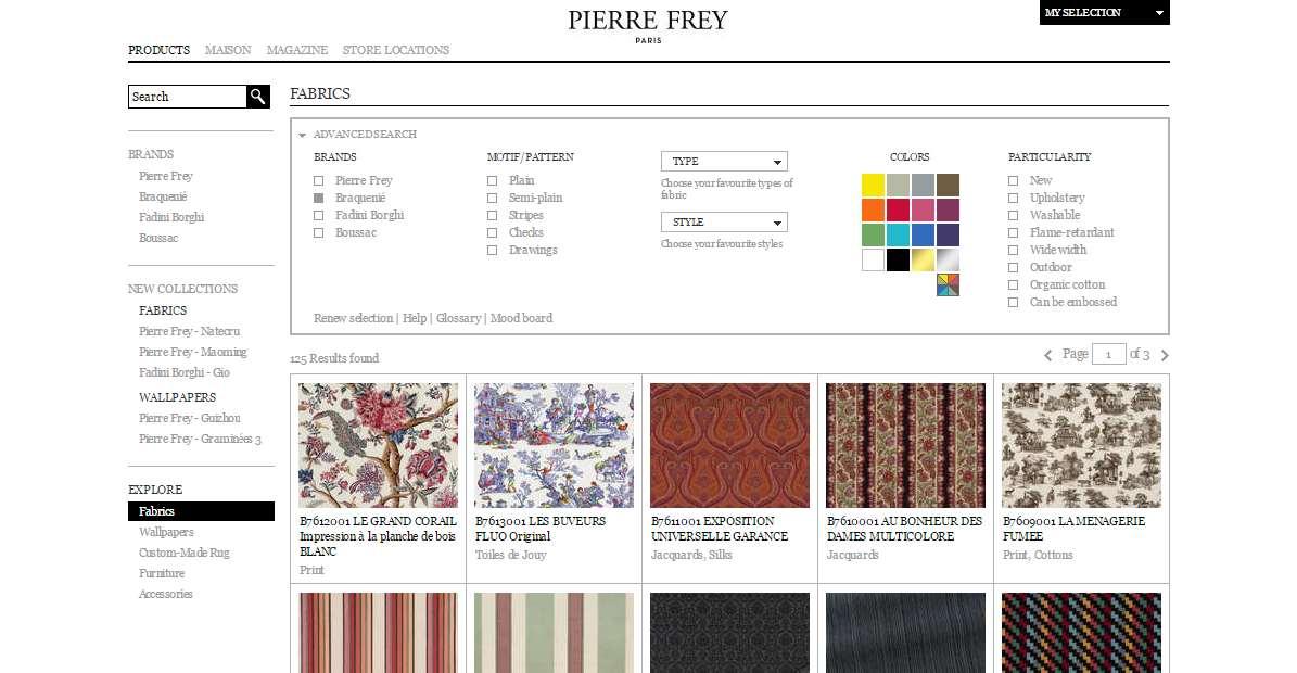 Homepage Dekostoffe kaufen von Braquenie