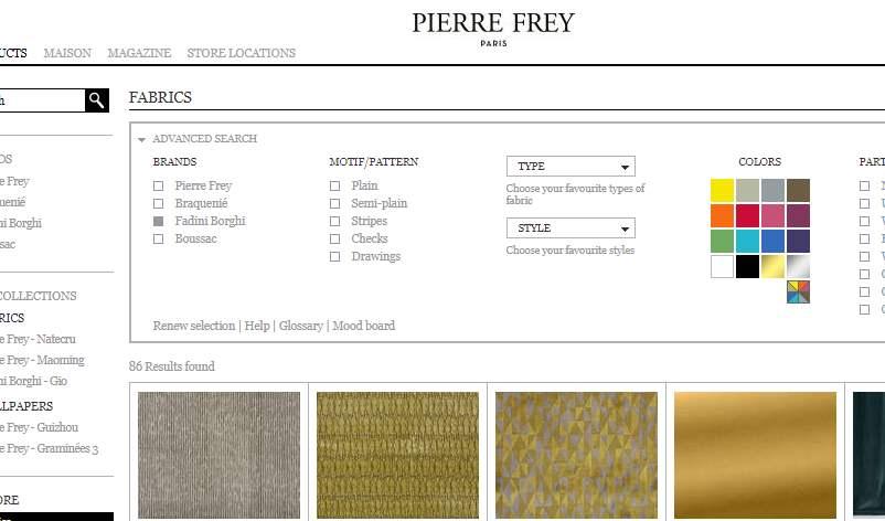 Homepage dekostoffe kaufen von Fadini Borghi