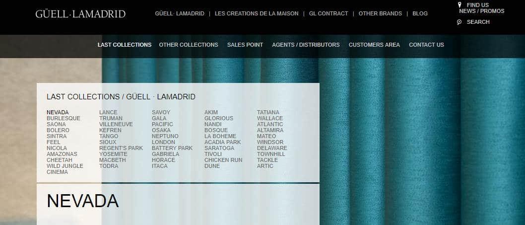 Homepage Dekostoffe von Guell Lamadrid