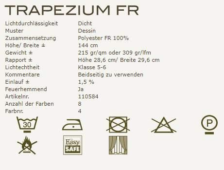 Gardinenideen New Classics von Kobe Vorhangstoff Trapezium Fr Produktbeschreibung