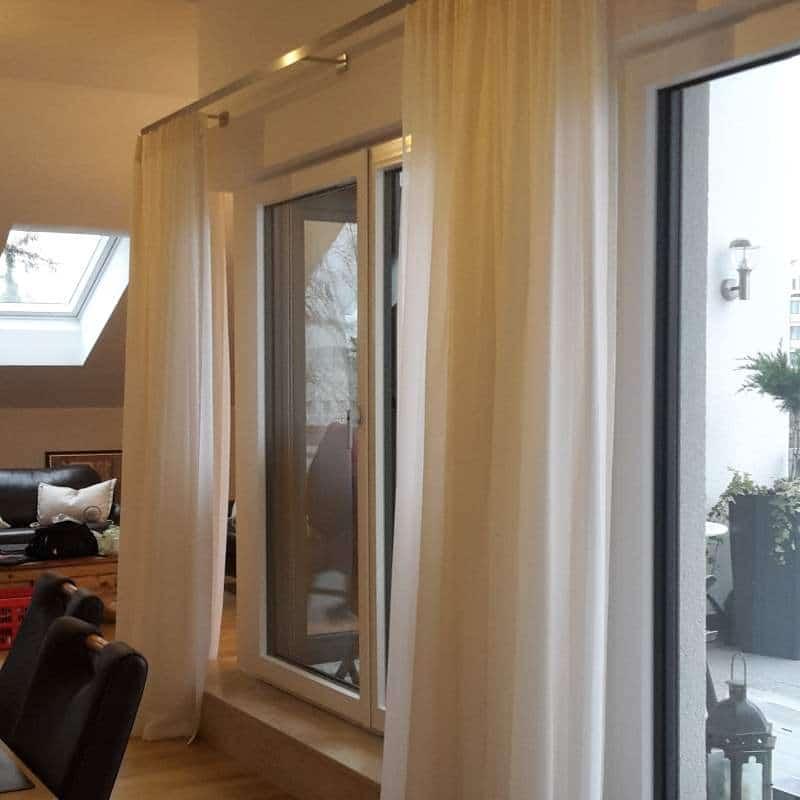Transparente Wohnzimmervorhänge