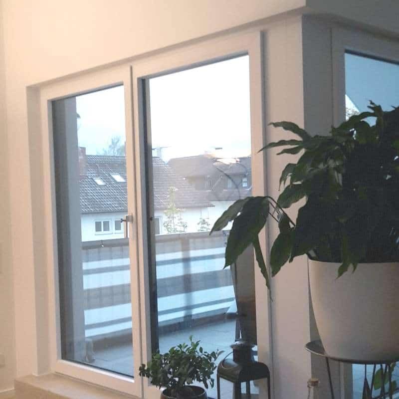 Transparente Wohnzimmervoränge - vorher