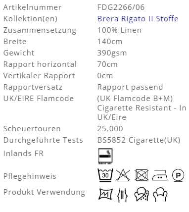 Bezugsstoff-Streifen-Brera Colorato Designers-Guild Produkt Info