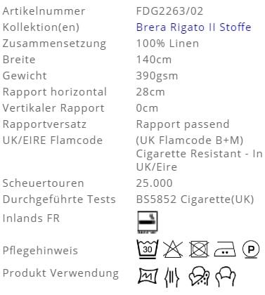 Bezugsstoff-Streifen-Brera-Nastro-Designers-Guild Produkt Info