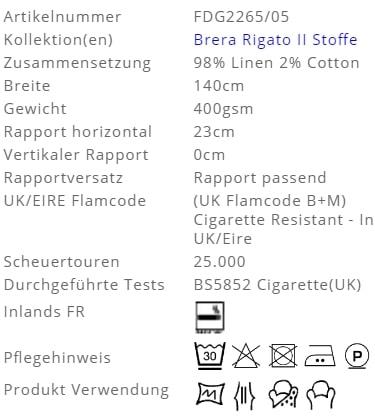 Bezugsstoff-Streifen-Brera-Spigato-Designers-Guild Produkt Info