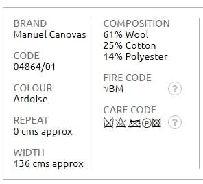 Bezugsstoff-Streifen-Marsanne Manuel Canovas Produkt Info