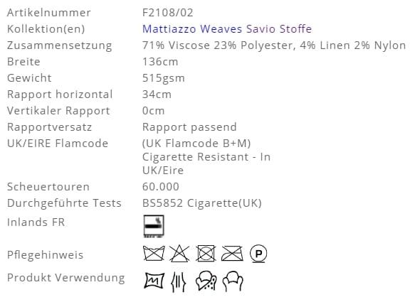Bezugsstoff-Streifen-Savio-Designers-Guild Produkt Info