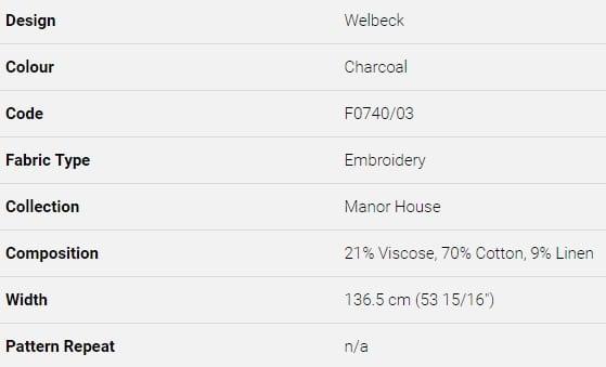 Bezugsstoff-Streifen-Welbeck Clarke Clarke Produkt Info