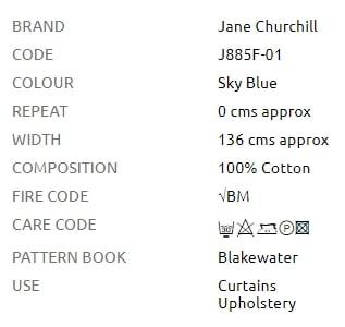 Bezugsstoffe Streifen Jane Churchill Willow Stripe Produkt Info