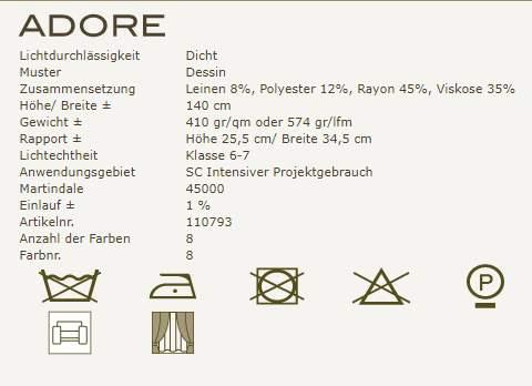 Gardinenideen Eclectic von Kobe Vorhangstoff Adore Produktbeschreibung