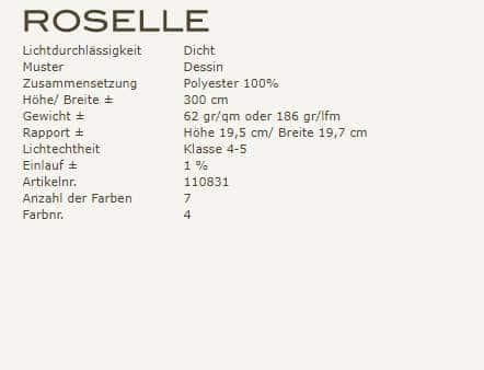 Gardinenideen Eclectic von Kobe Vorhangstoff Roselle Produkzbeschreibung
