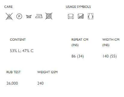 Vorhangstoff-Blumenmuster-Maharani Osborne Little Produkt Info