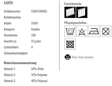 Vorhangstoff Streifen Aaron-Saum Viebahnjpg Produkt Info