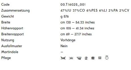 Vorhangstoff-gemustert-Present-Perfect-Dedar Info