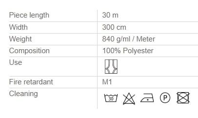 Vorhangstoff-Uni-Eclipse-Houles Info