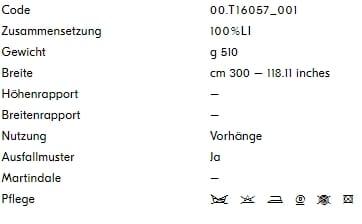 Vorhangstoff-Uni-Panamino-Dedar Info