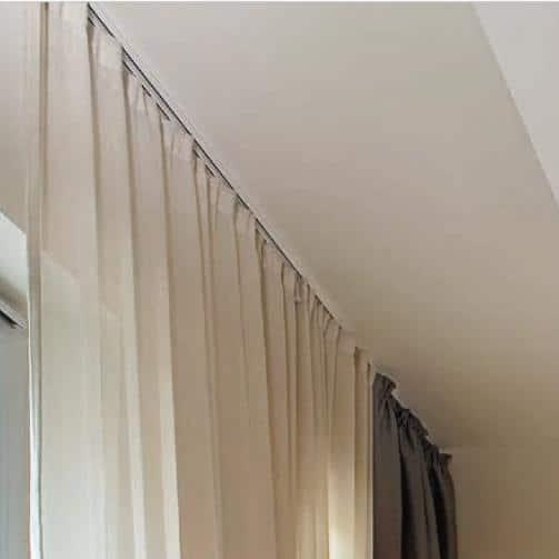 Schöne schlichte Vorhänge Vorhangstoff Vorhangsschiene Futur MHZ
