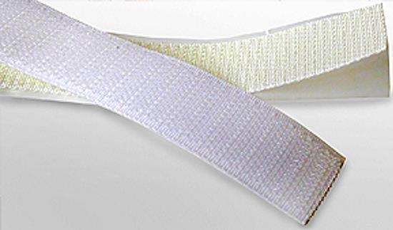 Moderne Scheibengardinen - Flauschband - Klettband