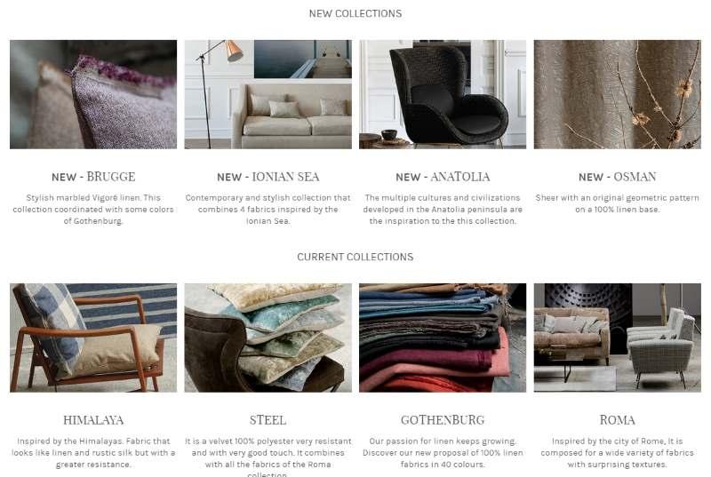 Homepage Dekostoffe von Les Creations de la maison