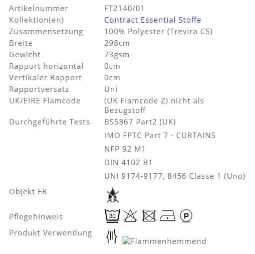 Gardinenstoff-Uni-Bonomo Designers-Guild Info