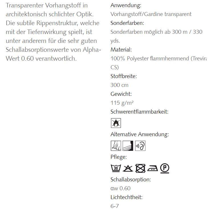 Transparente Akustikgardinen Alphacoustic Info