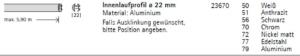 Transparente Akustikgardinen Gardinenstange Votum 22 Info