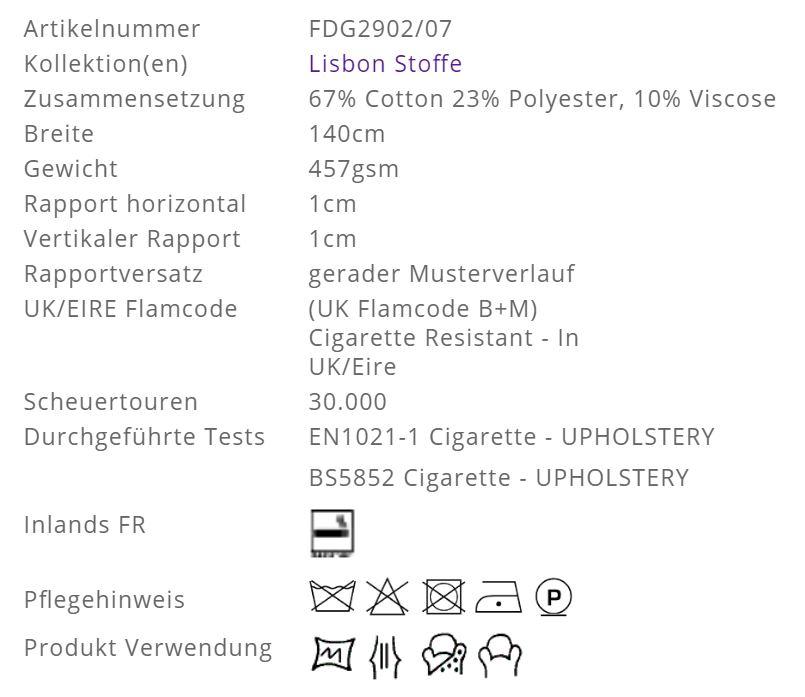 Bezugsstoff-Schadstoff-geprüft-Lisbon-Designers-Guild Info