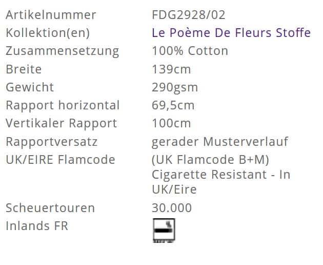 Bezugsstoff-Blumen-Vespertina Sepia Designers-Guild Info
