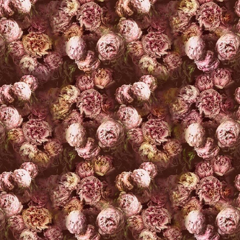 Bezugsstoff-Blumen-Vespertina Sepia Designers-Guild