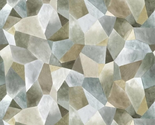 Bezugsstoff-gemustert-Geo Moderne Pewter Designers-Guild