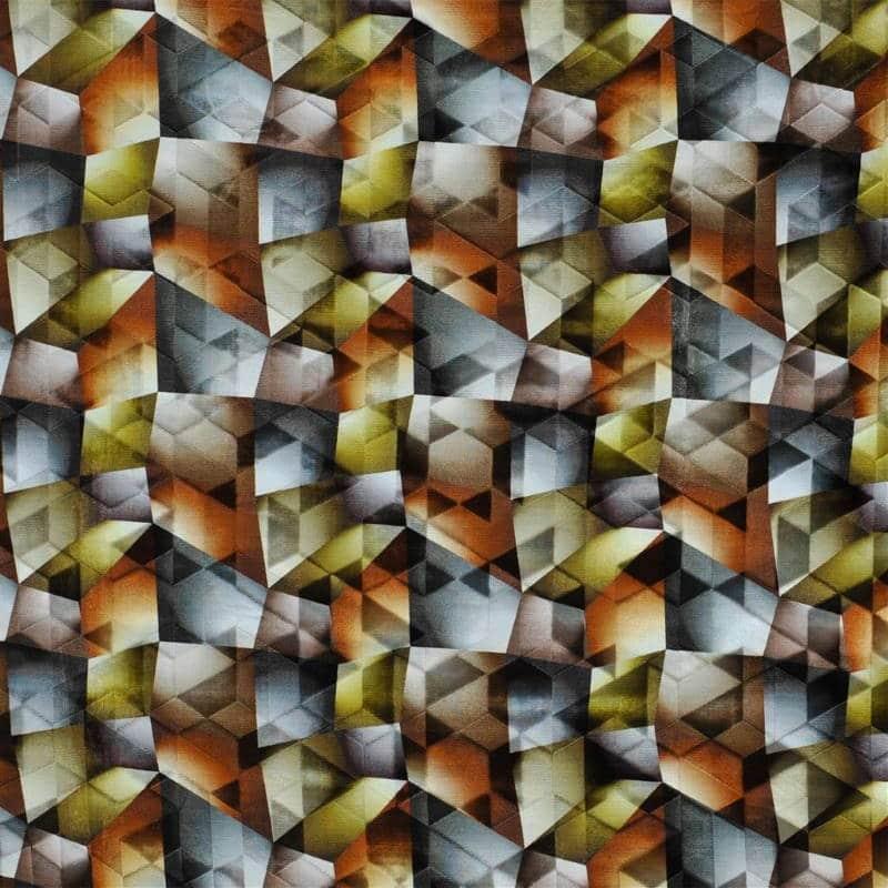 Bezugsstoff-gemustert-Maurier Ochre Designers-Guild