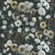 Vorhangstoff-Blumen-Dahlia Noir Slate Designers-Guild