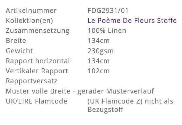 Vorhangstoff-Blumen-Dahlia Noir Slate Designers-Guild Info