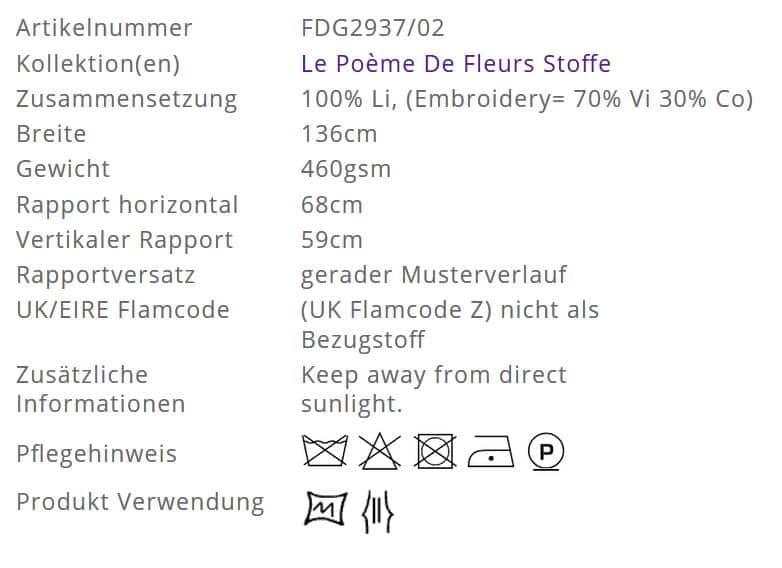 Vorhangstoff gemustert Uchiwa Ochre Designers-Guild Info