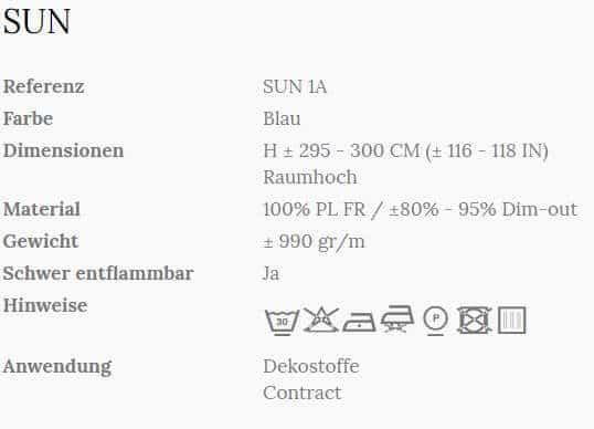 Vorhangstoff Uni Sun 1A Wind Info