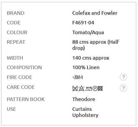 Bezugsstoff-Blumen-Paisley-Leaf-Colefax-Fowler Info