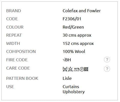 Bezugsstoff-Kariert-Galloway-Plaid-Colefax-Fowler Info
