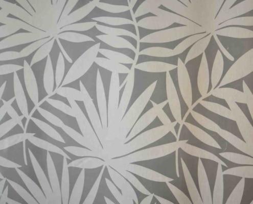 Gardinenstoff Blumenmuster Intex COLORADO 25 natur