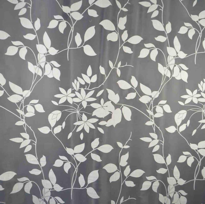 Gardinenstoff Blumenmuster Intex La Spezia 01 weiß