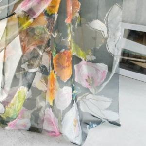 Gardinenstoffe Blumenmuster Creation Baumann-Aimee