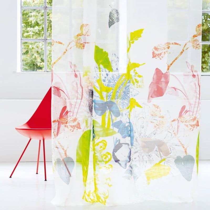 Gardinenstoffe Blumenmuster Creation Baumann-Favola